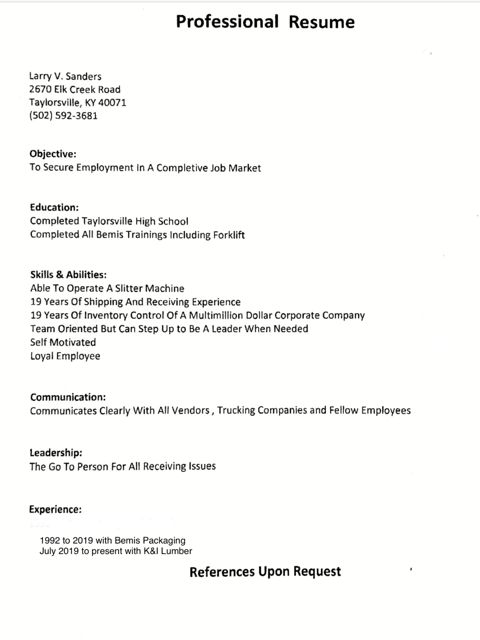 Upload your resume here (optional)